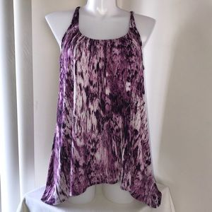 LANE BRYANT CINCHED PURPLE SLEEVELESS TOP 18/20